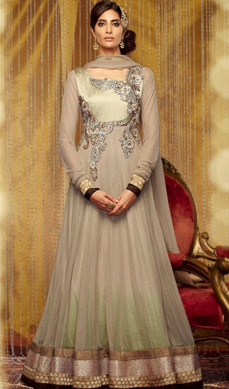 Sophisticated Floor Length Anarkali Dresses Collection 2014 3