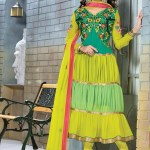 Lovely Festival Fashionable Anarkali Outfits Variety 2014 For Females (5)