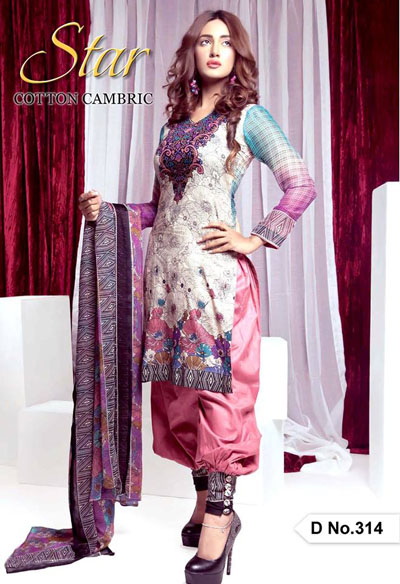 Naveed Nawaz textiles Star Cotton Cambric Collection 2014-15 30