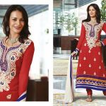 Zobi Fabrics Indian Party Wear Dresses Collection 2014-15