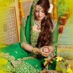 bridal mehndi dresses collection 2014-15 3