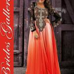 Evening Anarkali Dresses By Neha Dhupia Beige (1)
