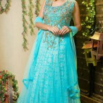 Lovely Designer Party Wear Gown 2014-15 6