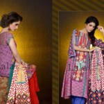 Mashaal Embroidered Shawl Collection 2014-15 6
