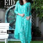 Artimmix Chiffon Gown with Printed Jumpsuit for Eid (1)