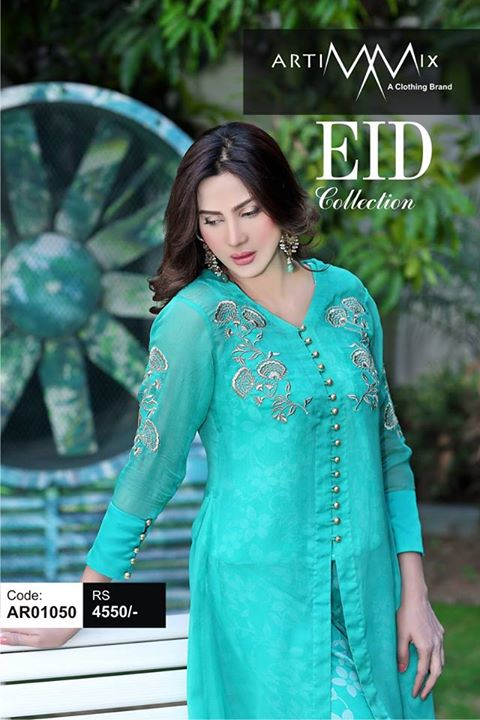 Artimmix 2 pC Gown with Printed Jumpsuit for Eid (2)