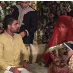 Ahmed Shahzad And Sana Nikah Wedding Latest Pictures