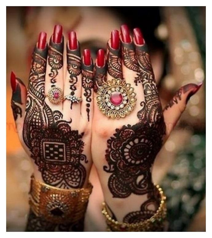 both hand same mehndi pictures