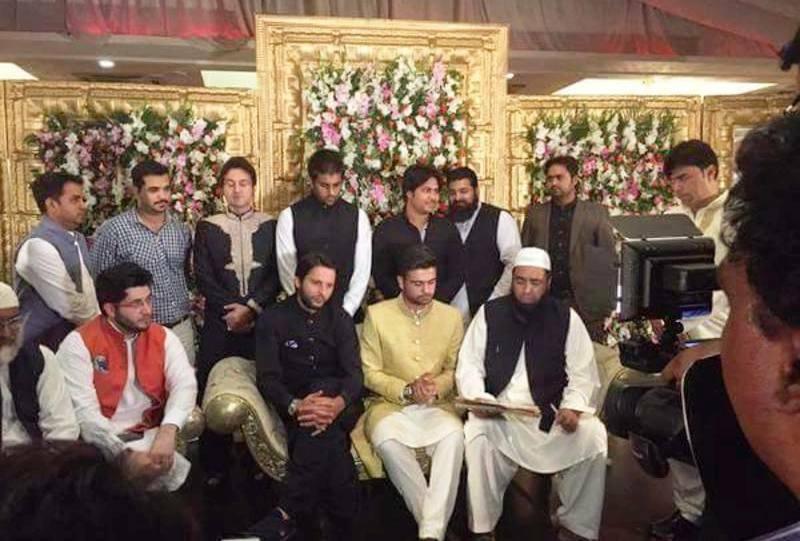 Cricketer Ahmed Shehzad bonds in wedding relation to Sana Murad