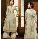 Latest designer suits with palazzo pants