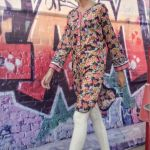 Lates Digital Printed stitched tunic with button embellishmen by Marib B