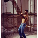 Boxing Champion Amir Khan campaign shoot for Pepe Jean without shirt