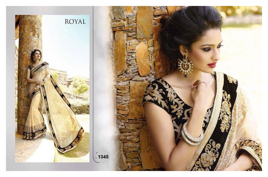 Royal Sarees Winter  Fall Indian Hot Saree Designs 2015-16 for Women (3)