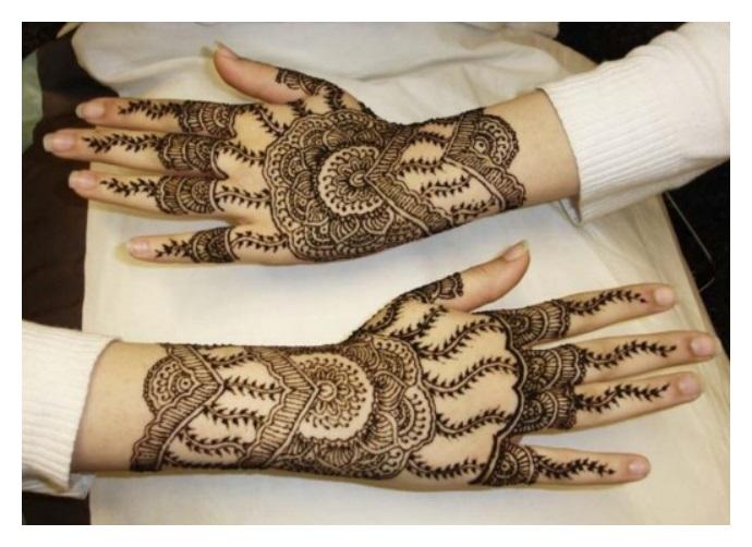 Attractive hand MEHNDI DESIGNS