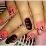 Latest Nail Art Butterfly design for Women