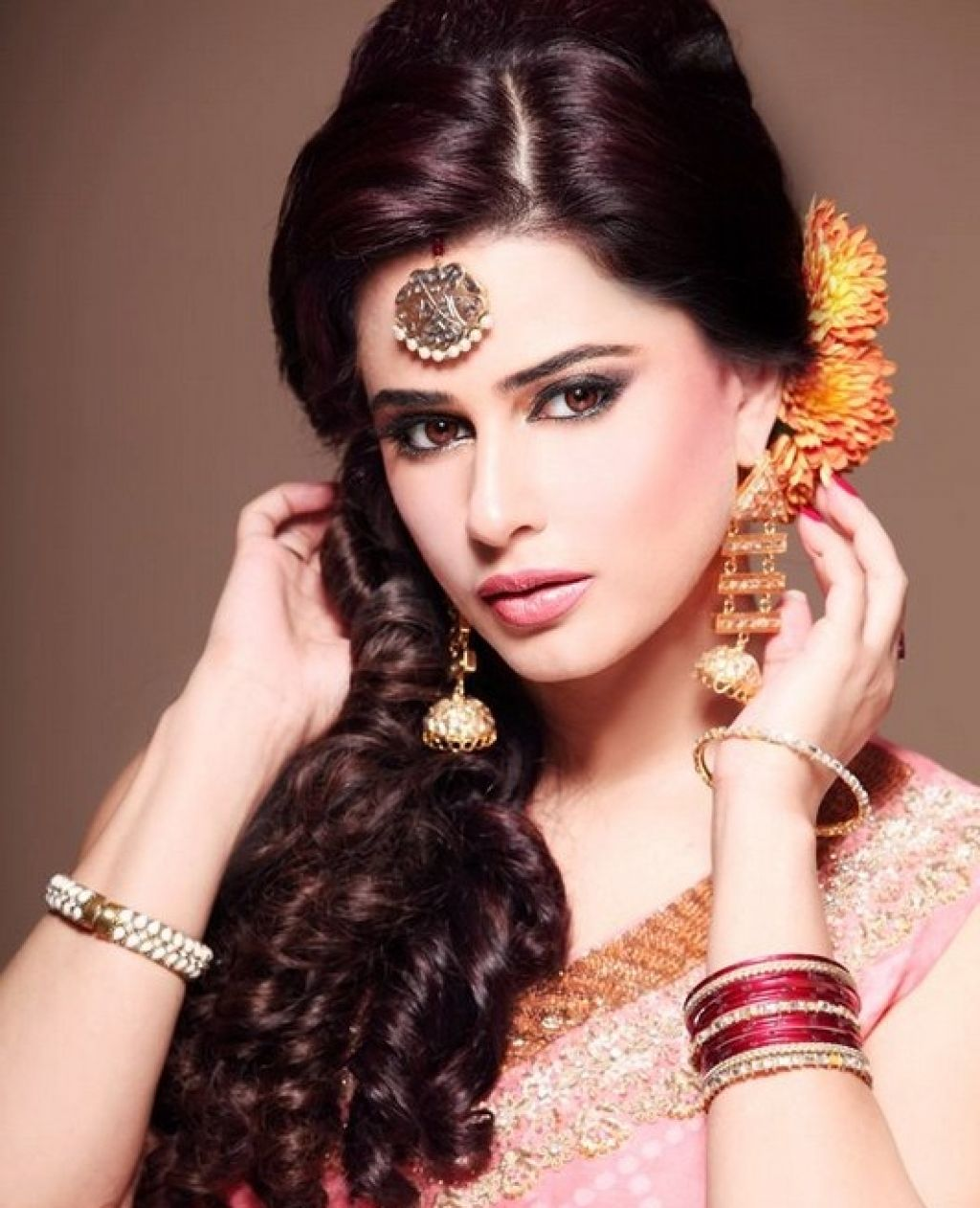 bridal hairstyles indian bride 2016