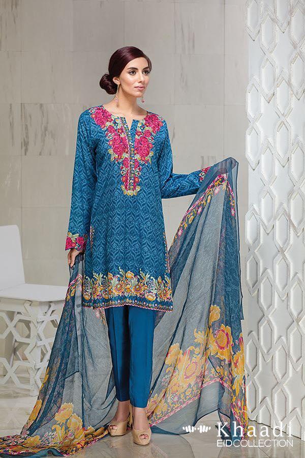 Khaadi Eid Collection 2016 with Dupatta