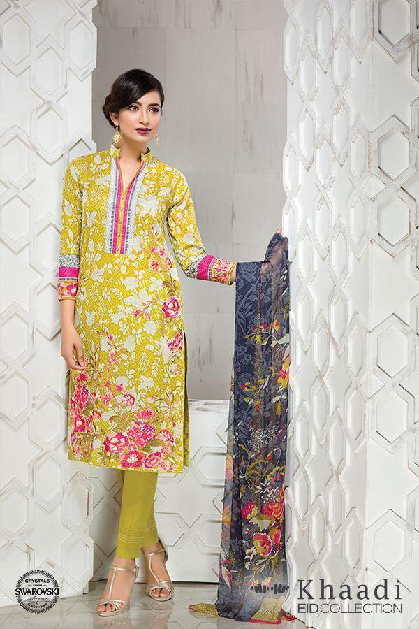 Khaadi Eid ul fitr Lawn Collection 2016 prices