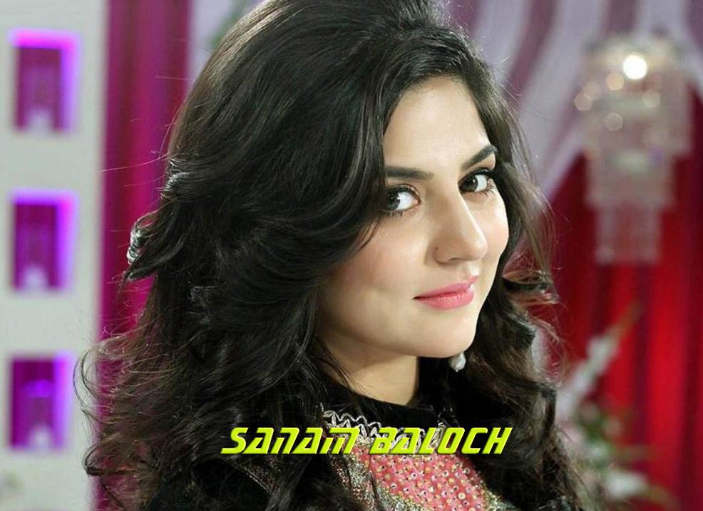 Sanam Baloch Pakistani actress and television presenter