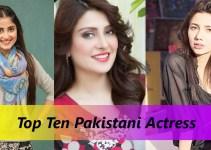 List of Top Ten Pakistani Actress