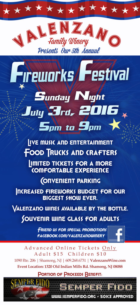 new jersey wine events - valenzano july 3rd