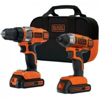 The Black & Decker® BDCD220IA 20-Volt MAX* Lithium Drill/Driver & Impact Driver Combo Kit