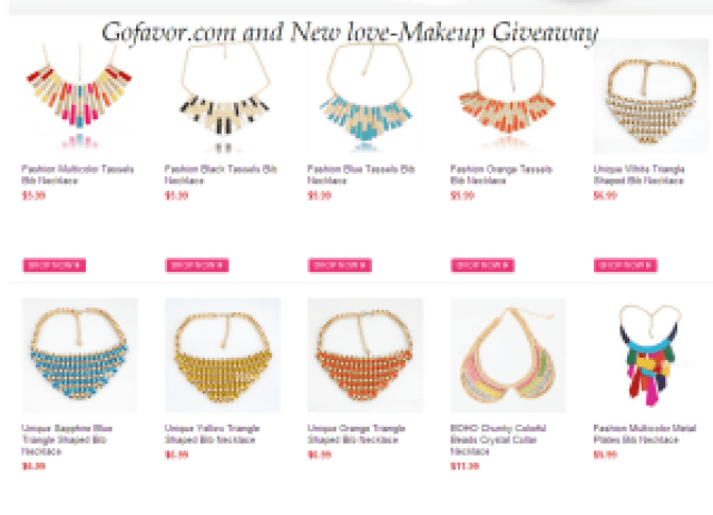 Win a Statement Necklace from Gofavor: 3 winners