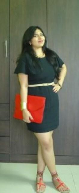 OOTD: Black Ruffle Sleeves Dress