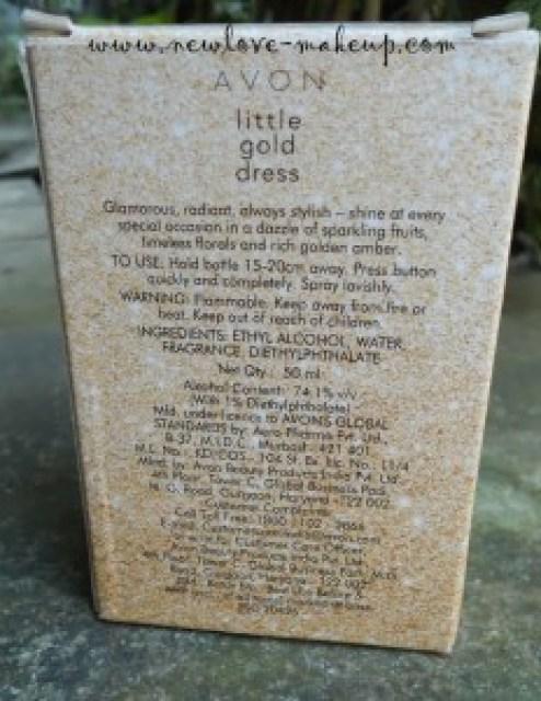 AVON Little Gold Dress Perfume Review