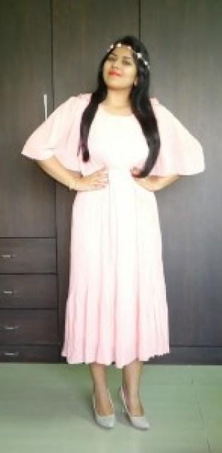 OOTD: Coral Pleated Dress, Leather Jacket
