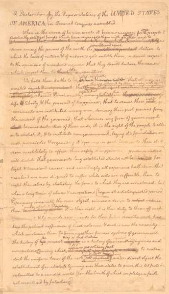 Jefferson's draft, with a little help from his friends.