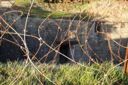 The original barbed wire is still there. Nothing was changed after 1944, because there were no houses right in this area. It still looks remarkably untouched.