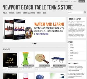 Ping Pong Equipment Newport Beach
