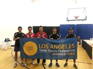 Newport Beach Table Tennis Team versus LATTA