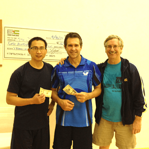 Kuei Chen, Tony Kovacs and Tim Stephens after playing the Equal Challenge Tournament in Newport Beach