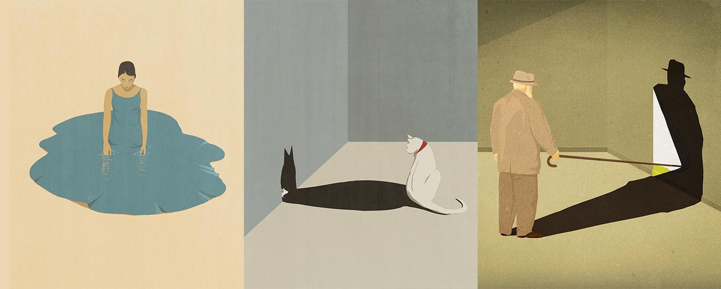 As ilustrações duplas de Andrea Ucini