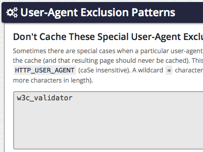 User-Agent Exclusion Patterns