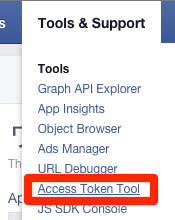 Access Token Tool - Facebook Developers
