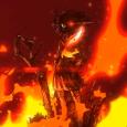 從影片中來看疑似是水手服!?站在火焰中的意義又是一團謎…