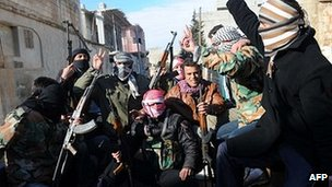Free Syrian Army members in Idlib, 18 Feb