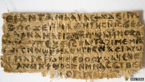 A previously unknown scrap of ancient papyrus written in ancient Egyptian Coptic
