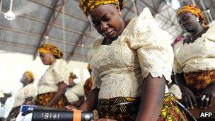 Worshippers in Maiduguri, Nigeria