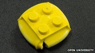 Crushed LEGO brick