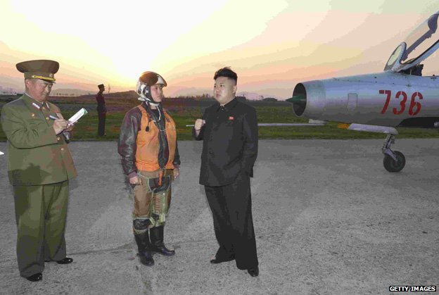 Kim Jong-un visits a flight training centre