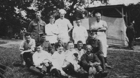 WW1 soldiers in Oswestry