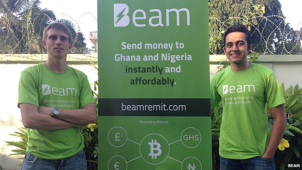 Beam's Nikunj Handa (right) and his co-founder and chief technology officer Falk Benke