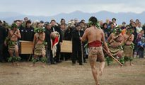 Coming home: Rangitane iwi tupuna reburial ceremony at Wairau Bar in 2009.