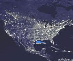 US cities from space