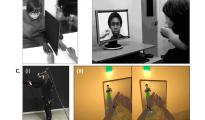 (A) The Rubber Hand Illusion; (B) The Enfacement Illusion; (C) Immersive Virtual Reality: (i) A participant wears the head-mounted display, (ii) The participant's view of the situation.  Credit: Trends in Cognitive Sciences, Maister et al.