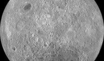 The lunar farside as never seen before! LROC WAC orthographic projection centered at 180° longitude, 0° latitude.  Image Credit: NASA/Goddard/Arizona State University.
